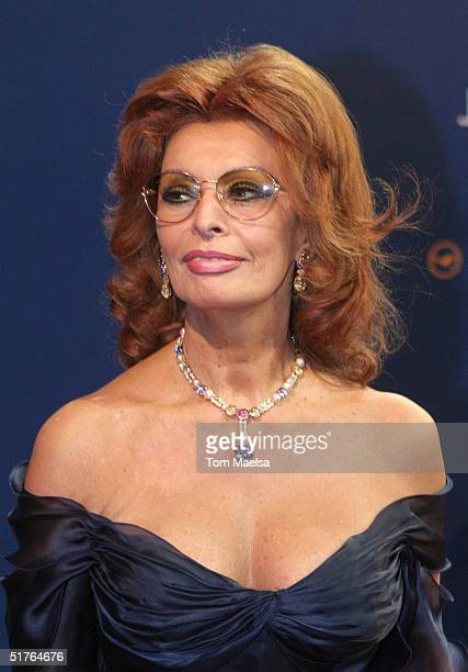Actress Sophia Loren arrives at the Bambi Award at Theater im Hafen on November 18 2004 in Hamburg Germany