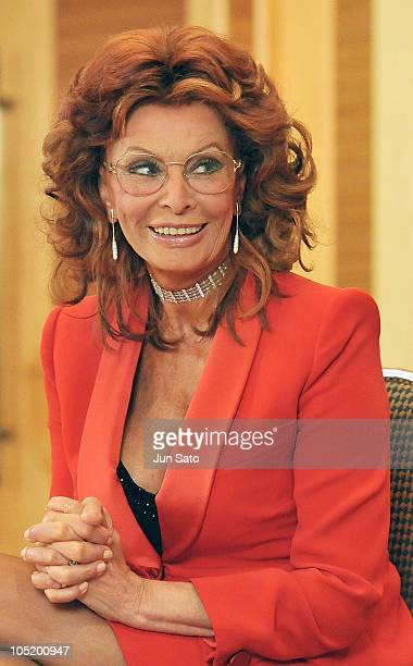 Actress Sophia Loren attends the 22nd Praemium Imperiale press conference at Hotel Okura on October 12 2010 in Tokyo Japan