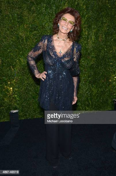 Actress Sophia Loren attends the CHANEL Tribeca Film Festival Artists Dinner at Balthazar on April 22 2014 in New York City