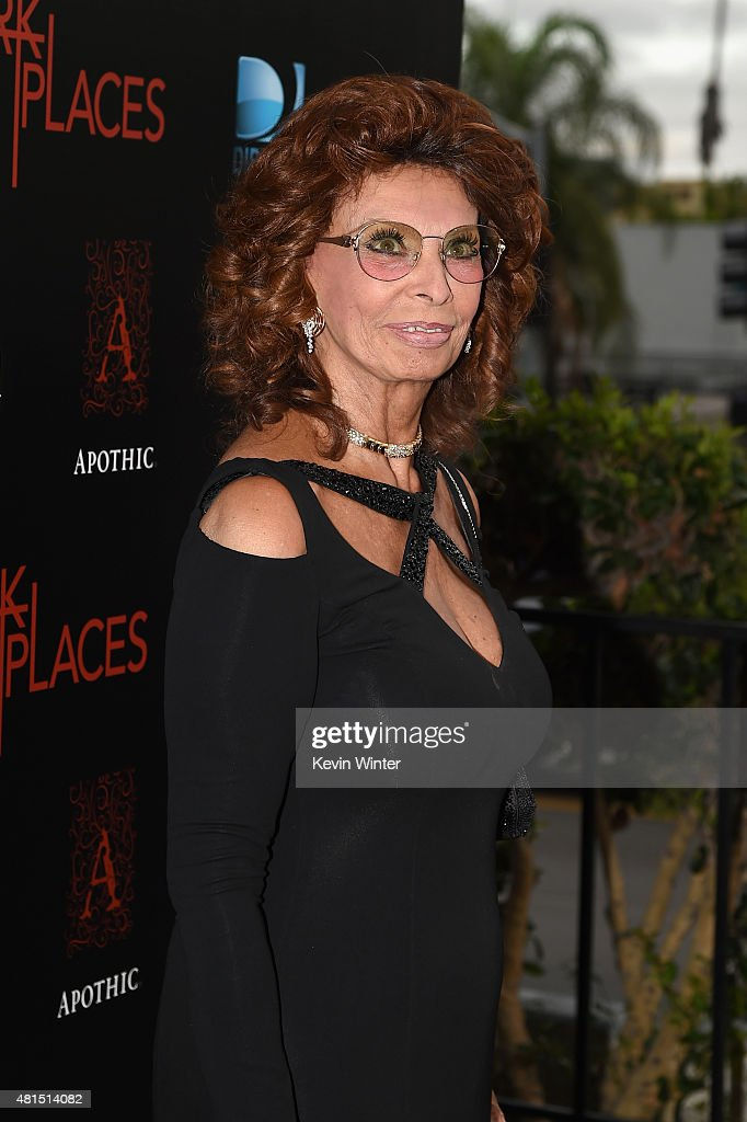 Actress Sophia Loren attends the premiere of DIRECTV's 'Dark Places' at Harmony Gold Theatre on July 21, 2015 in Los Angeles, California.