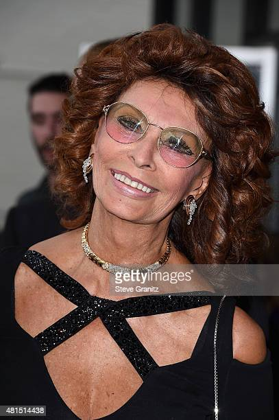 Actress Sophia Loren attends the premiere of DIRECTV's Dark Places at Harmony Gold Theatre on July 21 2015 in Los Angeles California