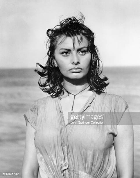 Actress Sophia Loren in Boy on a Dolphin