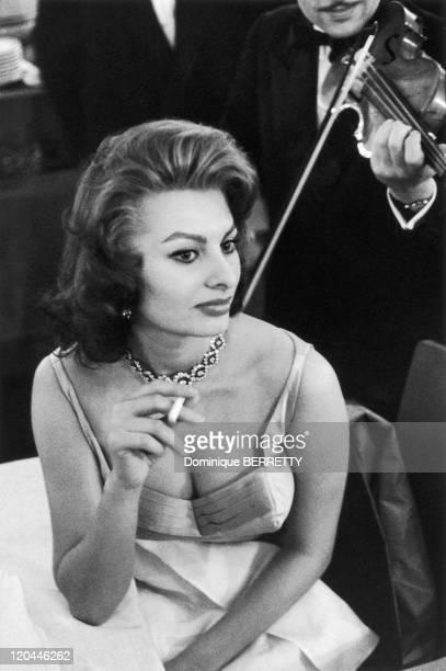 Actress Sophia Loren in the 1950s