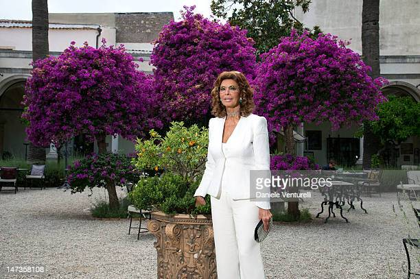 Actress Sophia Loren poses at the 'Sofia Loren Portrait Session' during the 58th Taormina Film Feston June 28 2012 in Taormina Italy