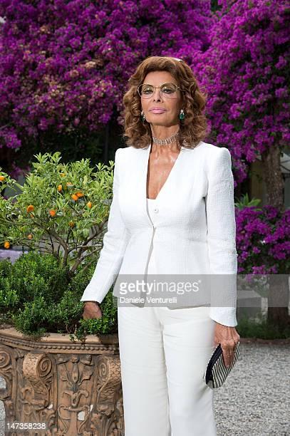 Actress Sophia Loren poses at the 'Sofia Loren Portrait Session' during the 58th Taormina Film Feston June 28 2012 in Taormina Italy