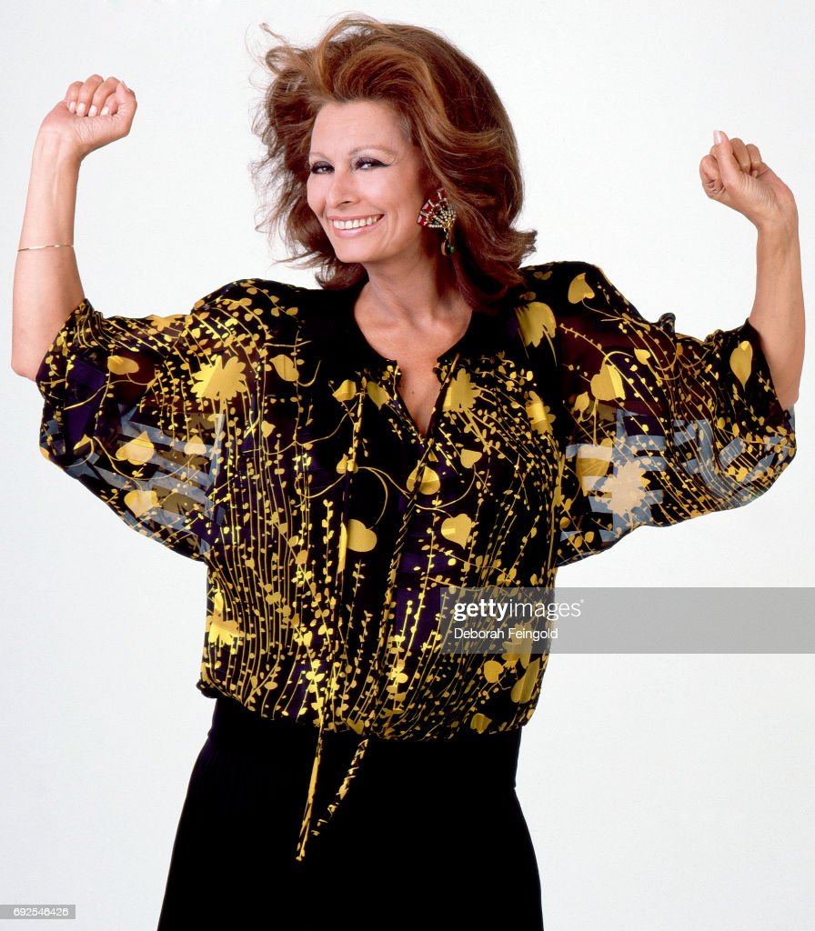 Actress Sophia Loren poses for a portrait in 1986 in Los Angeles, California.