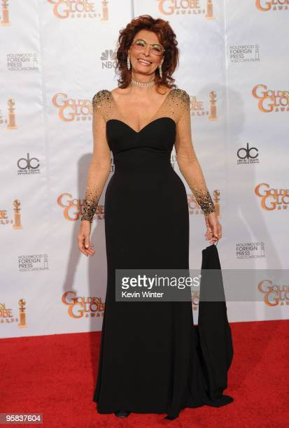 Actress Sophia Loren poses in the press room at the 67th Annual Golden Globe Awards held at The Beverly Hilton Hotel on January 17 2010 in Beverly...