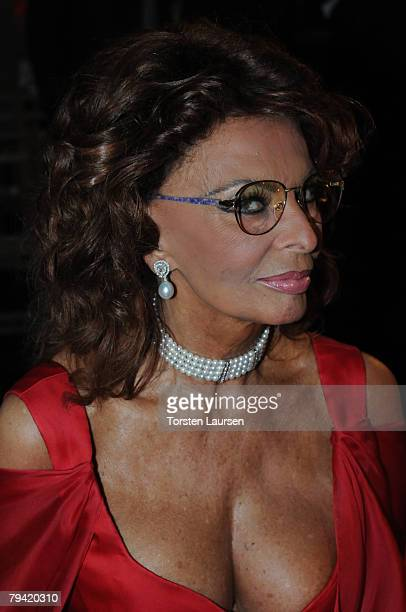 Actress Sophia Loren takes part of the jury to select the Queen of the famous Santa Cruz de Tenerife Carnival in Tenerife Spain