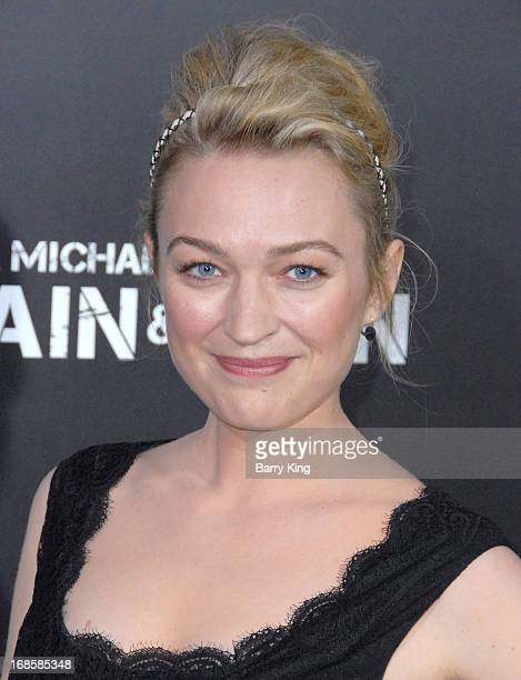 Actress Sophia Myles arrives at the Los Angeles Premiere 'Pain Gain' at TCL Chinese Theatre on April 22 2013 in Hollywood California