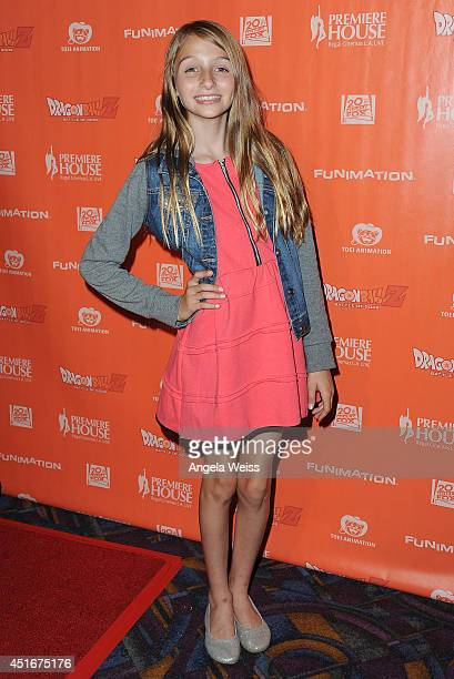 Actress Sophia Strauss attends the premiere of 'Dragon Ball Z Battle Of Gods' at Regal Cinemas LA Live on July 3 2014 in Los Angeles California