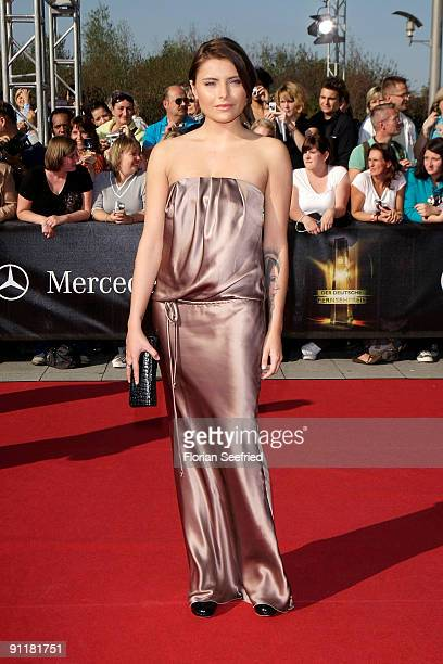 Actress Sophia Thomalla arrives for the German TV Award 2009 at the Coloneum on September 26 2009 in Cologne Germany