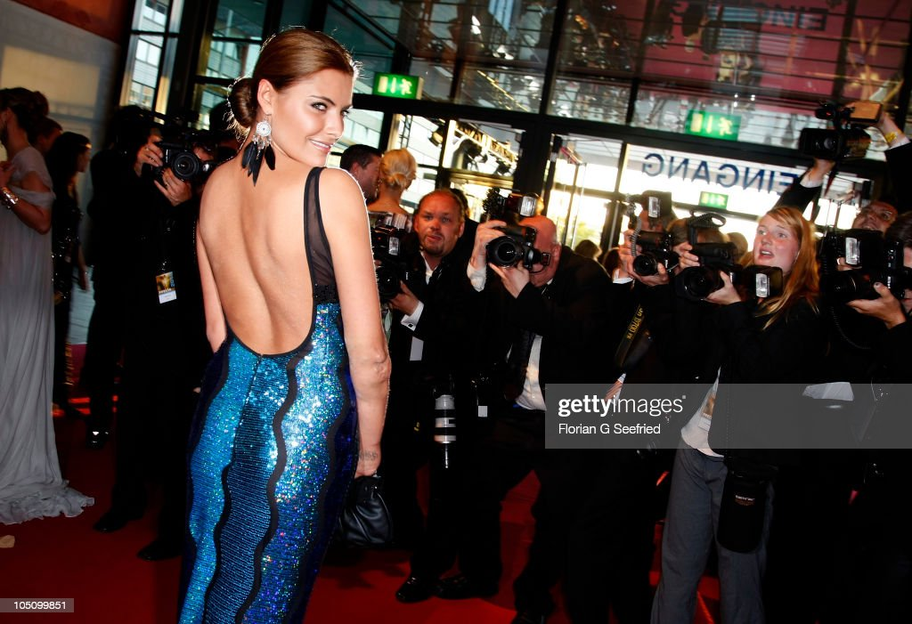 Actress Sophia Thomalla attends the German TV Award 2010 (Deutscher Fernsehpreis 2010) at Coloneum on October 9, 2010 in Cologne, Germany.