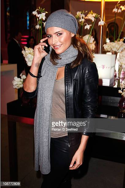 Actress Sophia Thomalla attends the 'Launch of the new Windows Phone by Deutsche Telekom' at Hotel de Rome on October 20 2010 in Berlin Germany