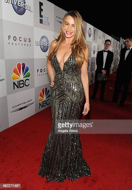 Actress Sophia Vergara attends the Universal NBC Focus Features E sponsored by Chrysler viewing and after party with Gold Meets Golden held at The...