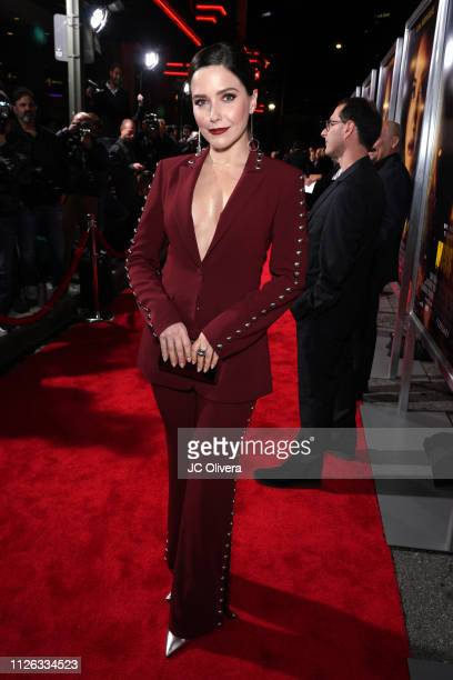 Actress Sophie Bush attends the premiere of Columbia Pictures' 'Miss Bala' at Regal LA Live Stadium 14 on January 30 2019 in Los Angeles California