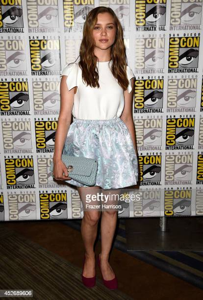 Actress Sophie Cookson attends 20th Century Fox Press Line during Comic-Con International 2014 at Hilton Bayfront on July 25, 2014 in San Diego,...