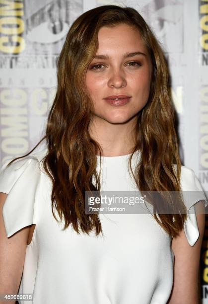 Actress Sophie Cookson attends 20th Century Fox Press Line during ComicCon International 2014 at Hilton Bayfront on July 25 2014 in San Diego...
