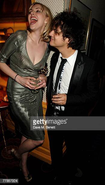 Actress Sophie Dahl and singer Jamie Cullum attend the launch of Kate Moss's new Top Shop 'Christmas Range' collection at Annabel's October 16, 2007...