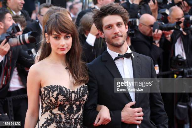 Actress Sophie Desmarais and actor JeanSebastien Courchesne attend the Premiere of 'Cleopatra' during the 66th Annual Cannes Film Festival at the...
