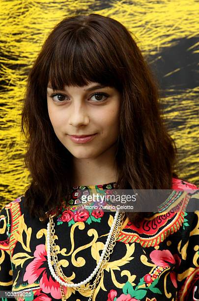 Actress Sophie Desmarais attends Curling photocall during the 63rd Locarno Film Festival on August 9 2010 in Locarno Switzerland