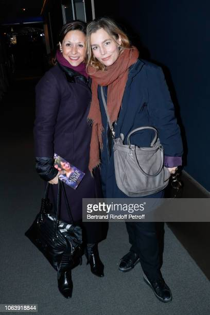 Actress Sophie Duez and a guest attend the Sauver ou Perir Paris Premiere at Cinema UGC Normandie on November 20 2018 in Paris France