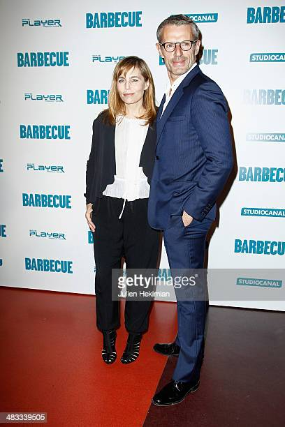 Actress Sophie Duez and actor Master of ceremonies of the 67th Festival de Cannes Lambert Wilson attend the 'Barbecue' Premiere at Cinema Gaumont...