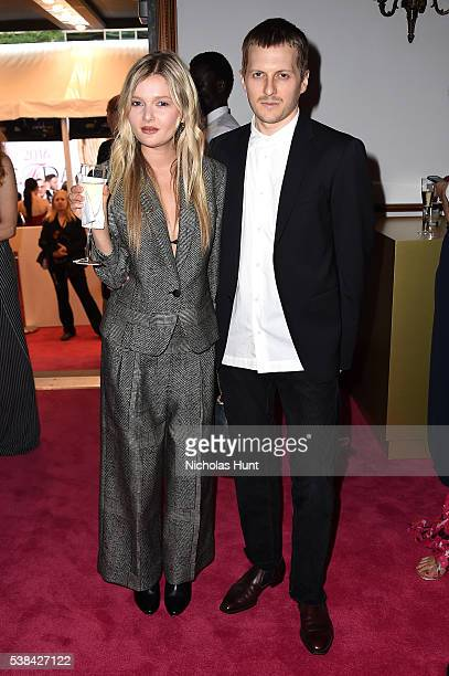 Actress Sophie Kennedy Clark and designer Christopher Peters attend the 2016 CFDA Fashion Awards at the Hammerstein Ballroom on June 6 2016 in New...