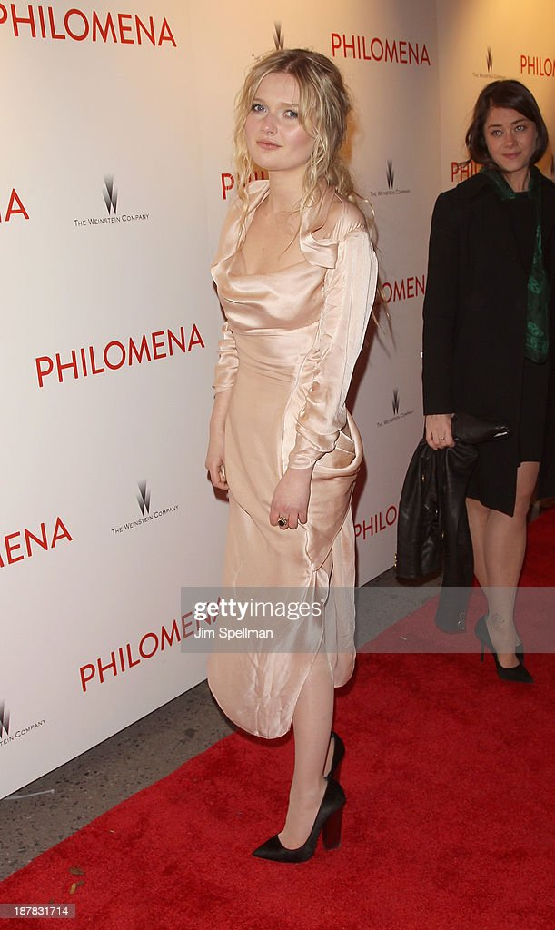 Actress Sophie Kennedy Clark attends the premiere of 'Philomena' hosted by The Weinstein Company at Paris Theater on November 12, 2013 in New York City.