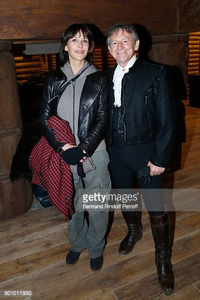 Actress Sophie Marceau and Mario Luraschi attend the 'Mario Luraschi's Espace Cavalcade' Opening Night at Ferme De La Chapelle on December 11 2015 in...
