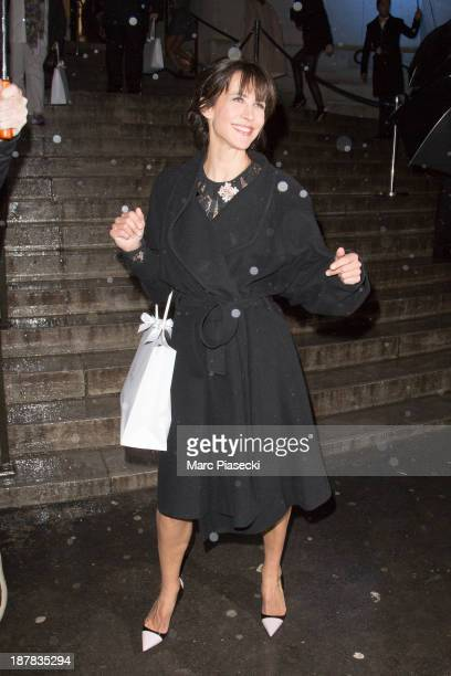 Actress Sophie Marceau attends the 'Esprit Dior Miss Dior' exhibition opening at Grand Palais on November 12 2013 in Paris France