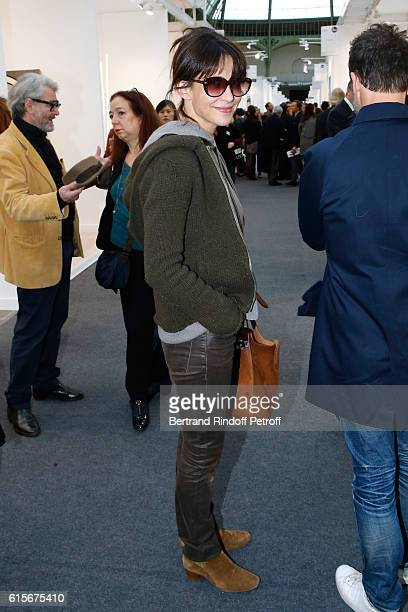 Actress Sophie Marceau attends the FIAC 2016 International Contemporary Art Fair Press Preview Held at Le Grand Palais on October 19 2016 in Paris...