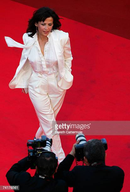 Actress Sophie Marceau attends the premiere of the movie 'Zodiac' at the Palais des Festivals during the 60th International Cannes Film Festival on...