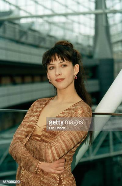 Actress Sophie Marceau is in Tokyo to promote a new perfume Champs Elysses for the French perfume house Guerlain