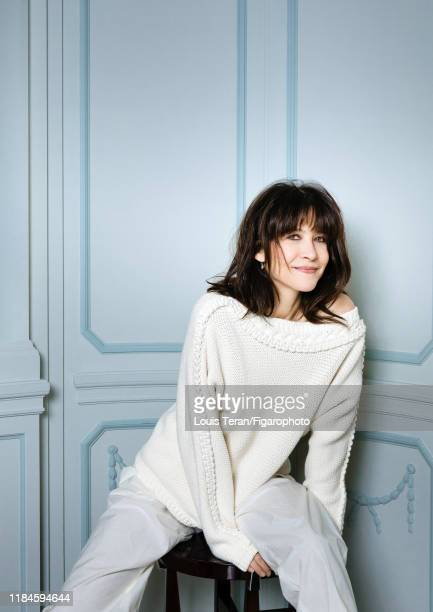 Actress Sophie Marceau is photographed for Madame Figaro on February 6, 2018 in Paris, France. Sweater and pants by Hermès. PUBLISHED IMAGE. CREDIT...