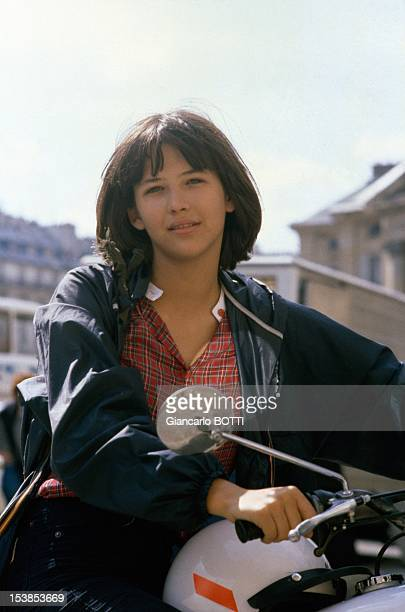 Actress Sophie Marceau On Set Of Movie 'La Boum' Directed By Claude Pinoteau, Paris, 1980.
