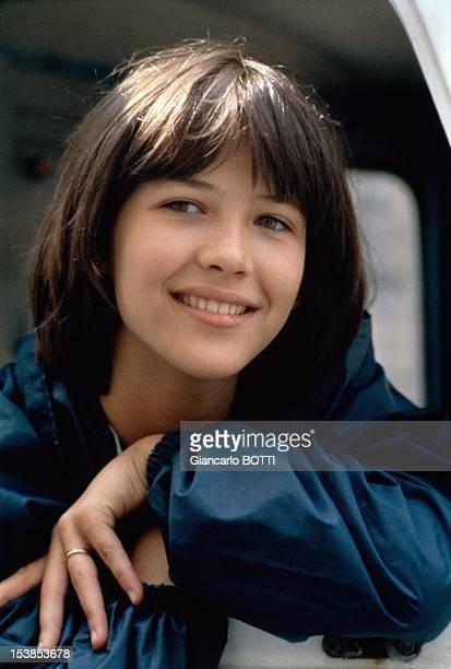 Actress Sophie Marceau On Set Of Movie La Boum Directed By Claude Pinoteau Paris 1980