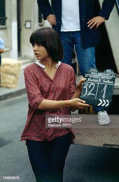 Actress Sophie Marceau On Set Of Movie 'La Boum' Directed By Claude Pinoteau Paris 1980