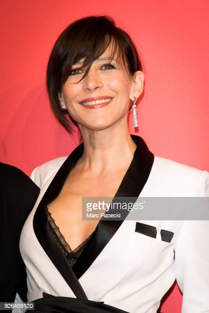 Actress Sophie Marceau poses in the press room during the 43rd Cesar Awards Ceremony at Salle Pleyel on March 2, 2018 in Paris, France.