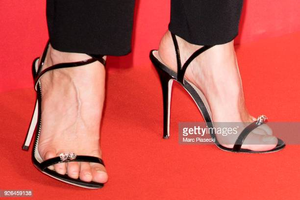 Actress Sophie Marceaushoe detail poses in the press room during the 43rd Cesar Awards Ceremony at Salle Pleyel on March 2 2018 in Paris France