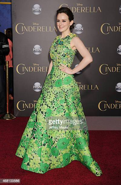 Actress Sophie McShera arrives at the World Premiere of Disney's 'Cinderella' at the El Capitan Theatre on March 1 2015 in Hollywood California