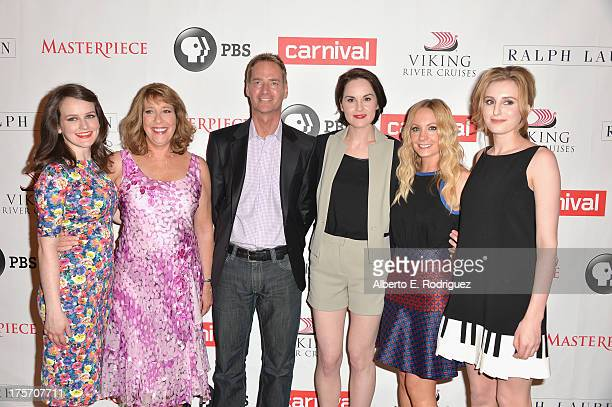 Actress Sophie McShera Phyllis Logan Mark Brogger of Viking River Cruises Michelle Dockery Joanne Froggatt and Laura Carmichael attend PBS History's...