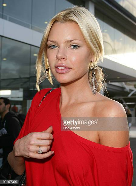 Actress Sophie Monk arrives in Australia ahead of her role cohosting the Kyle And Jackie O Breakfast Show on 2Day FM next week at Sydney...