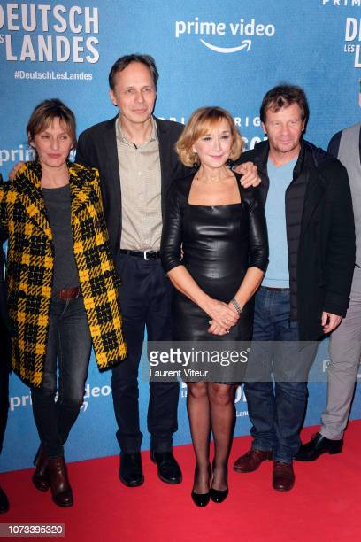 Actress Sophie Mounicot Director Denis Dercourt Actress MarieAnne Chazel and Actor Philippe Lelievre attend 'Deutsch les Landes' Premiere at Cinema...