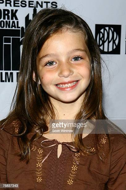 Actress Sophie Nyweide arrives for the screening of the movie 'Bella' at Florence Gould Hall on July 27 2007 in New York City
