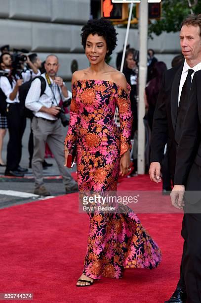 Actress Sophie Okonedo arrives at FIJI Water at 2016 Tony Awards at The Beacon Theatre on June 12 2016 in New York City