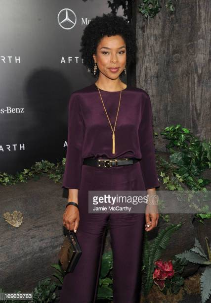 Actress Sophie Okonedo attends Columbia Pictures and MercedesBenz Present the US Red Carpet Premiere of AFTER EARTH at Ziegfeld Theatre on May 29...