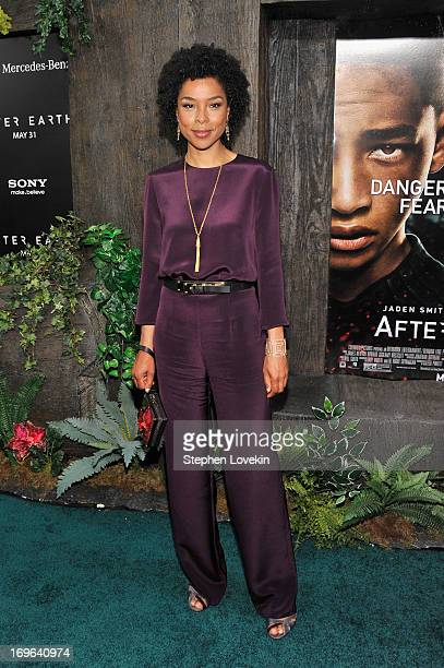 """Actress Sophie Okonedo attends the """"After Earth"""" premiere at Ziegfeld Theater on May 29, 2013 in New York City."""