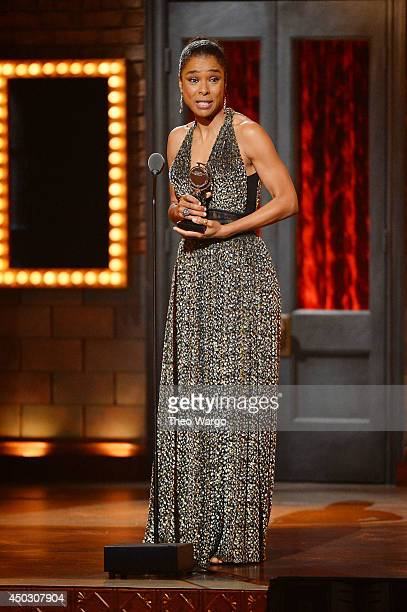 Actress Sophie Okonedo speaks onstage during the 68th Annual Tony Awards at Radio City Music Hall on June 8 2014 in New York City