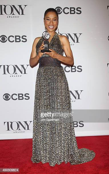 Actress Sophie Okonedo winner best performance by an actress in a featured role in a play attends American Theatre Wing's 68th Annual Tony Awards at...