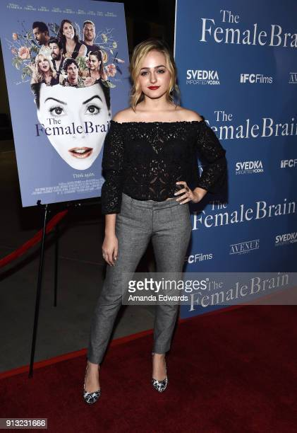 Actress Sophie Reynolds arrives at the premiere of IFC Films' 'The Female Brain' at the ArcLight Hollywood on February 1 2018 in Hollywood California